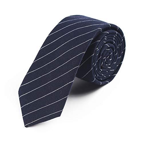 ZSRHH-Neckchiefs Halstücher Bunte Krawatte der gestreiften Komfort-Groomsmen-Silk Männer für Formale Geschäfts-Hochzeit (Farbe : Dunkelblau)