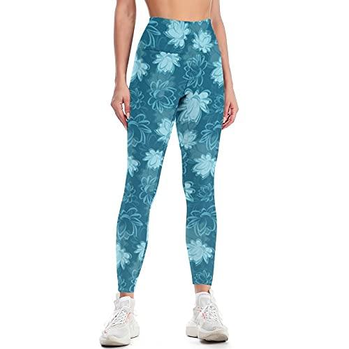 QTJY Pantalones de Yoga de Cintura Alta para Mujer, Pantalones de Yoga Ajustados para Levantar la Cadera, Ejercicio físico, Pantalones para Correr anticelulíticos F S