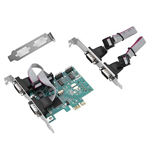 PCI-E Adapter, PCI-E auf RS232 4-Port Serial Port Konverter PCI-Express Controller Adapter Erweiterungskarte