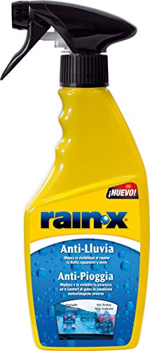 Rain-X, 26061, Tratamiento Anti-lluvia, parabrisas coche, lunas coche, Mampara ducha, Espejos, Cristales baño, 500ml