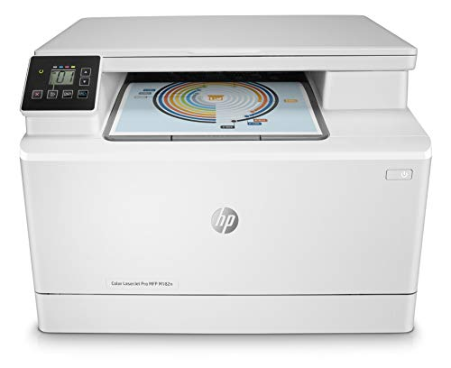 HP Color LaserJet Pro M182n Multifunktions-Farblaserdrucker (Drucker, Scanner, Kopierer, LAN, Airprint) weiß