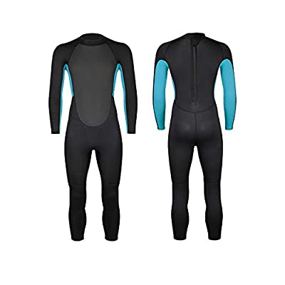 Homruilink Kids Wetsuit, 3mm Neoprene Wetsuit Unisex Full Suit Long Sleeve Swimsuit UV Protection with Back Zip for Diving,Swimming,Surfing,Snorkeling
