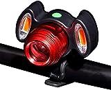 SAFGH Bicicleta Luz Bicicleta USB Luz Delantera Bocina de Bicicleta Conducción Nocturna Lámpara de Bicicleta LED