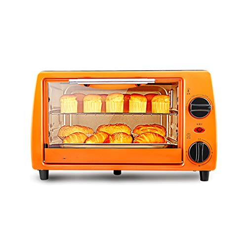 Z-Color 11L de Gran Capacidad Horno eléctrico, 750W Independiente Temperatura Controlada pequeño Horno, Naranja Acero Inoxidable Tubo de calefacción Horno de cocción