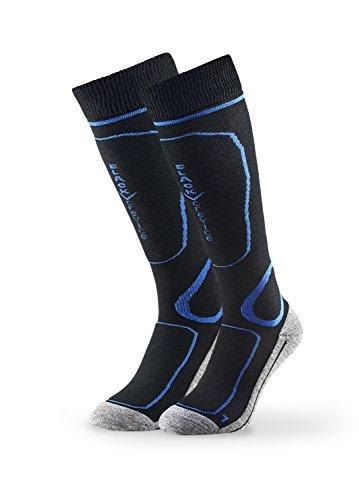 Black Crevice 35-38 Paire de chaussettes de ski pour homme Noir/bleu