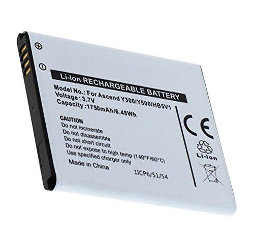 Akku, Ersatzakku ersetzt HB5V1 mit 1750mAh !!! für Huawei Ascend Y300 / Ascend Y500 / Ascend Y300-0100 / Ascend Y300-0151 / T8833 / U8833 Li-Ion PDA-Punkt