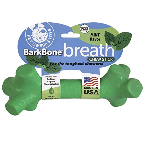 Pet Qwerks BarkBone Stick Dog Chew Toy, Mint, XLarge for Large Breed Dogs