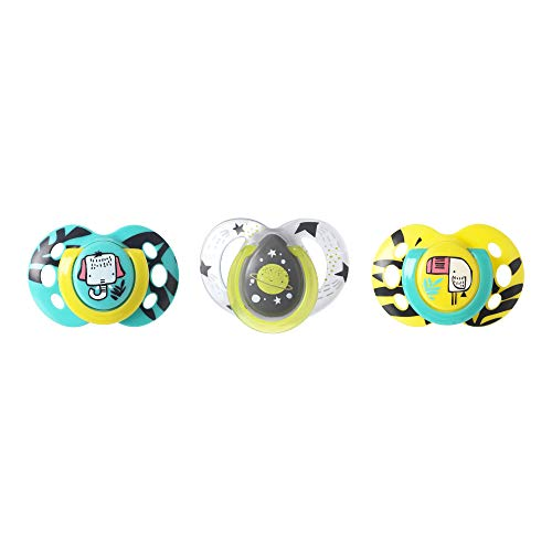 Tommee Tippee Day & Night Pacifiers, Glow-In-The-Dark, BPA-free, 18-36...
