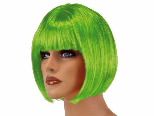 Haac - Parrucca per carnevale, capelli corti, colore: Verde
