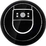 STRAW Aspiradora, Superior automático Robot Aspiradora, Control Inteligente de la aplicación/Auto-Carga/Anti-colisión, Bueno for el Pelo de Mascotas (Color : Black)