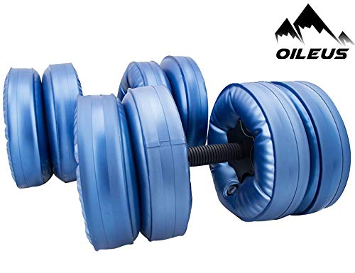 Oileus Water Filled Travel Dumbbells - Portable,...