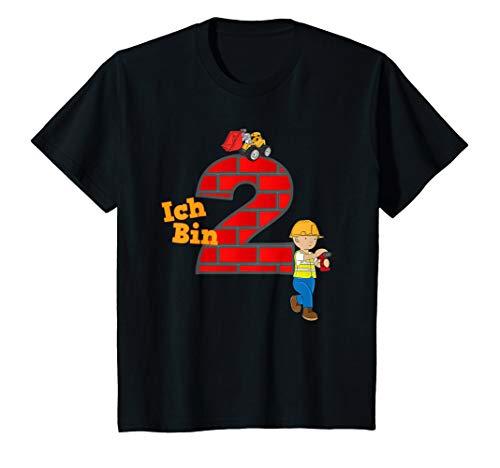 Kinder Geburtstagsshirt 2 Jahre Junge Bagger Baumeister T-Shirt