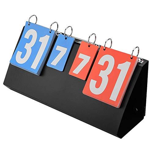 Dirgee Puntuación Deportivo, Puntaje de puntuación de Competencia de 4 dígitos Deportes Puntuación Digital for Mesa de Baloncesto de Ping-Tenis Bádminton Natación Voleibol