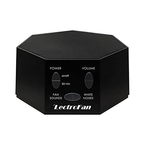 LectroFan - Máquina de Ruido Blanco con Sonidos de Ventilador y Temporizador (Negro)