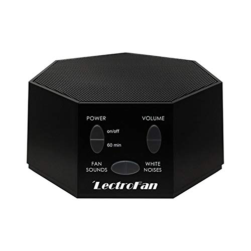 LectroFan - White Noise Machine and Non-Looping Fan Sounds with Sleep Timer (Classic, Black)