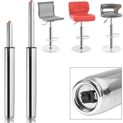 Deuba Pistón a gas para taburete muebles 720mm par de torsión 400Nm capacidad de 180Kg amortiguador muelle de compresión de gas