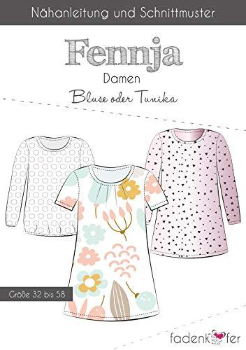 Brittschens Stoffe und Zutaten Papierschnittmuster Bluse/Tunika FENNJA Damen - nähen für Damen - Größe 32-58