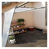 LIUNA Lona Impermeable del jardín de la Hoja de la Lona Clara Hoja de Lona de Lona de PE Lona Resistente al Polvo y a la Lluvia Cubierta de Dosel de Aislamiento de Plantas para invernader(Size:2x4m)