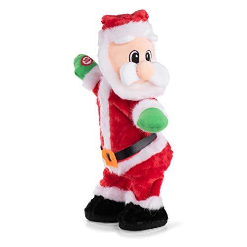 Twisted Wiggle Hip 14' English Song Electric Santa Claus Singing and Dancing Christmas Toy Dancing Electric Twerking Santa Plush Xmas Gift for Kids