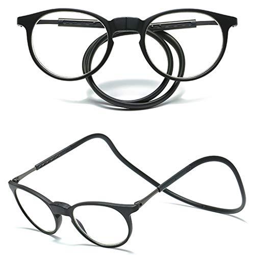 ZWH Gafas De Lectura Magnéticas, Presbicia Colgante De Cuello Plegable Anti-Luz Azul,...