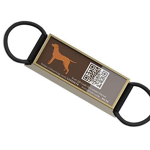 DISONTAG Placas para Perros,Placa para Perros Personalizadas,Placas para Mascotas,Placa De Identificacion Perros,18 Patrones Realistas, Pantalla De Información única | Modificable