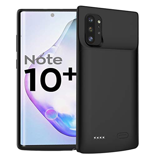 Battery Case for Galaxy Note 10 Plus, 6000mAh Portable Protective Charging Case Compatible with Samsung Galaxy Note 10 Plus (6.8 inch) Rechargeable Extended Battery Charger Case (Black)
