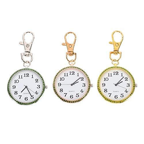 UKCOCO 3 Pcs Vintage Zakhorloge Klassieke Zakhorloge Retro Hanger Horloge Quartz Zakhorloge Voor Halloween Kerst Afstuderen Verjaardagscadeautjes