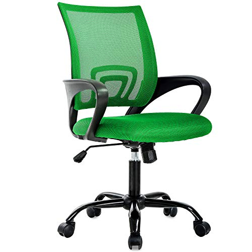 Ergonomic Office Chair Cheap Desk Chair Mesh Executive Computer Chair Lumbar Support for Women&Men, Green