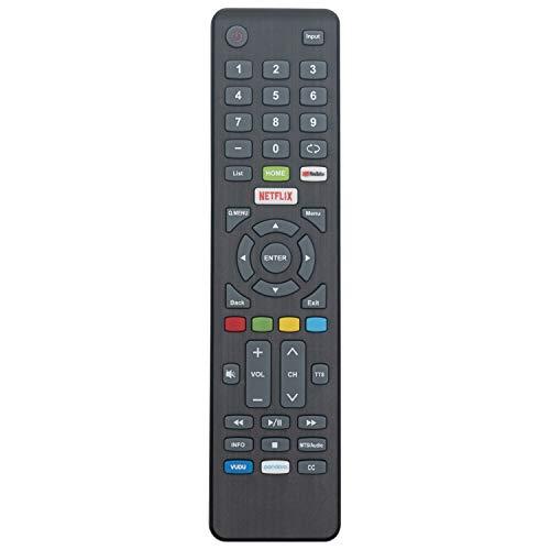 New Remote Control for Element Smart TV E4SW5518 E4SFT5017 E4SFT5517 with with YouTube VUDU Netflix Pandara Keys