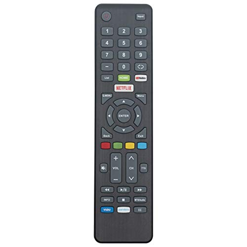 New Remote Control for Element Smart TV E4SW5518 E4SFT5017 E4SFT5517 with with YouTube VUDU Netflix Pandara Keys