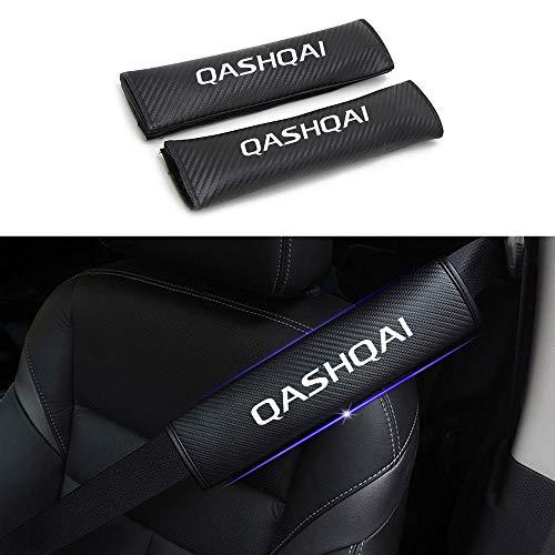 AILZNN Wagen Sicherheitsgurt Für Nissan Qashqai, Autositz GüRtel Gurt Schulterpolster FüR Erwachsene Und Kinder, Pu Leder Schutzkissen Innenausstattung, 1 Paar