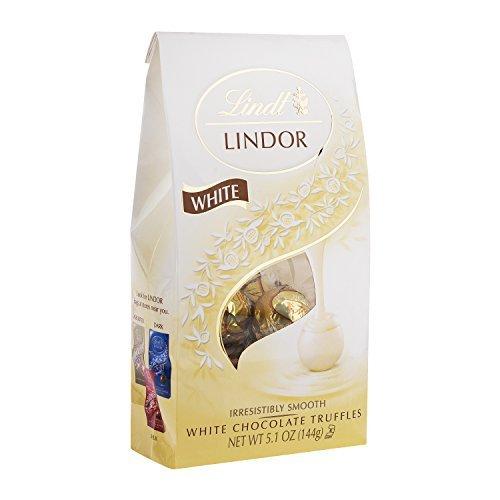 Lindt LINDOR White Chocolate Truffles, 5.1 oz. Bag, Pack of 1