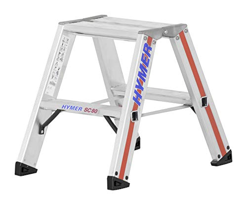 Hymer trapladder 2x2 sporten (aan beide zijden beloopbaar, versterkte treden, massieve gewrichten, spreidbeveiliging) 802404