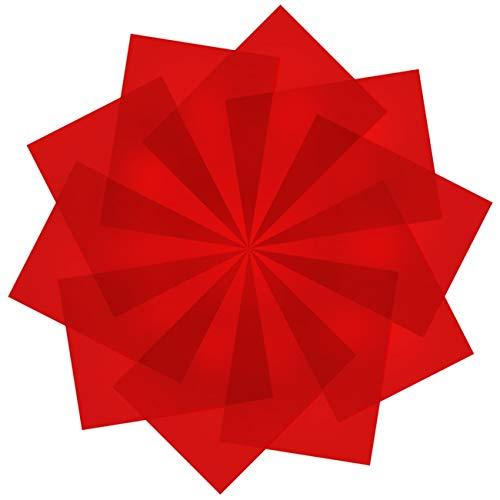 10 Stück durchsichtige Farbkorrektur-Lichtfilter – rotes Gel-Lichtfilter aus Kunststoff, 21,6 x 27,9 cm