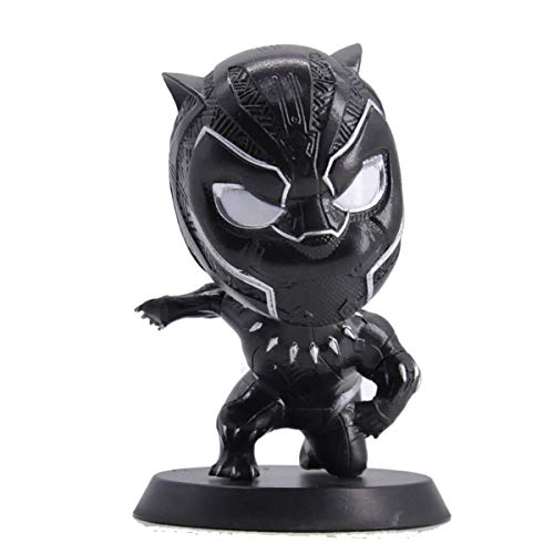 Marvel Bobblehead Black Panther Avengers Endgame Marvel Heros Action Figure Bobble Head for Collection, Perfect for Home, Car Decoration, Friend Gift, 4 Inches (Marvel Certificate) image
