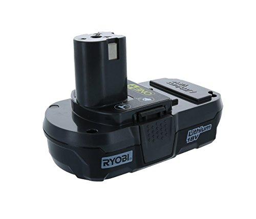 Ryobi P102 Genuine OEM 18V One+ Lithium Ion Compact Battery for Ryobi Cordless Power Tools (Renewed)