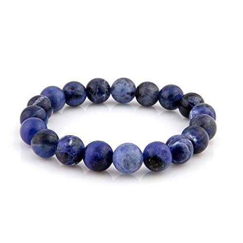 BUDDHA BEADS Natural Round 10 mm Gemstone Beaded Stretch Bracelet Mens & Womens.