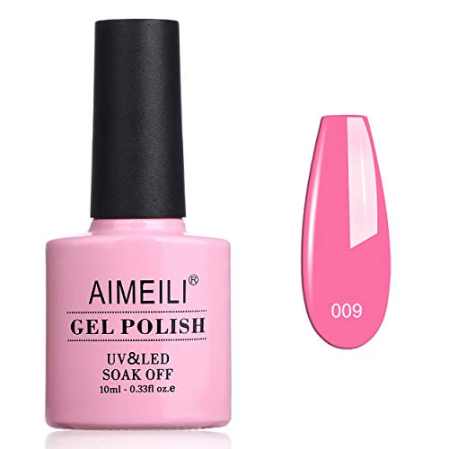 AIMEILI Rosa Gel Nagellack UV LED Gellack ablösbarer Gel Nagellack 10ml - Pretty in Pink (009)