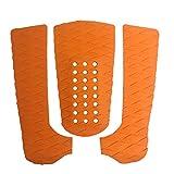 czos88 Surfboard Pad Set 3 Stü Universal Grip Adhesive Traction Skimboard Eva Anti-Rutsch-Surfen Stoßfest Tragbares De Umweltfreundliche Schwanz(Orange)