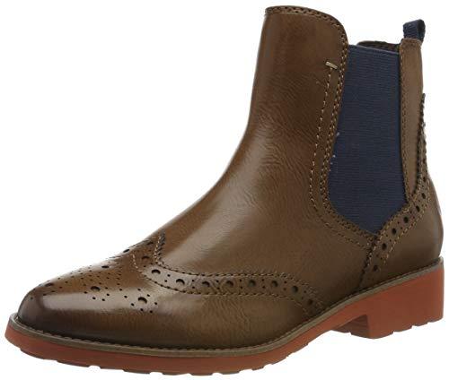 MARCO TOZZI Damen 2-2-25410-33 Chelsea Boots, Braun (Cognac Ant.Com 372), 39 EU
