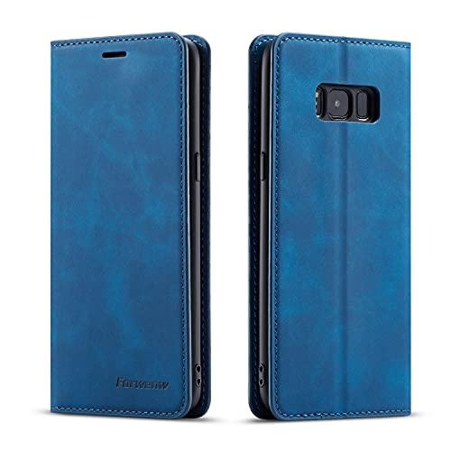 Cubierta protectora Cartera de cuero de PU multifunción para Samsung Galaxy S8 Plus, 2 en 1 Flip Billetera Magnética Soporte de la cubierta de la cubierta de la cubierta, la caja de la cubierta inferi