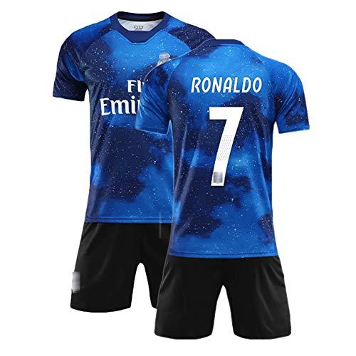 Sommer Fußballanzug für Ramos 4 Varane 5 Kroos 8, Kinder- und Herrenfußballuniformen, Trainingsuniform, kann wiederholt gewaschen Werden, das Beste Geschenk-No7-18