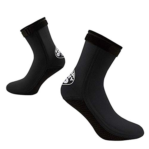 Mens Water Shoes Womens Quick Dry Lightweight Barefoot Shoe Multifunction Aqua Sports Socks for Swimming Surfing Yoga(Black,S)
