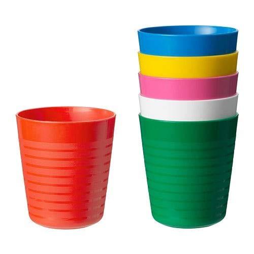 Ikea Kalas Becher, 6 Stück, mehrfarbig