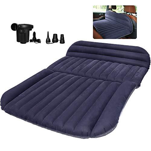QDH SUV Air Mattress-Thickened Car Bed Back Seat Mattress-Portable Car Mattress for Vehicle Cushion Air Bed Inflatable Mattress with Air-Pump-Camping Blow Up Mattress for car (SUV air Mattress)