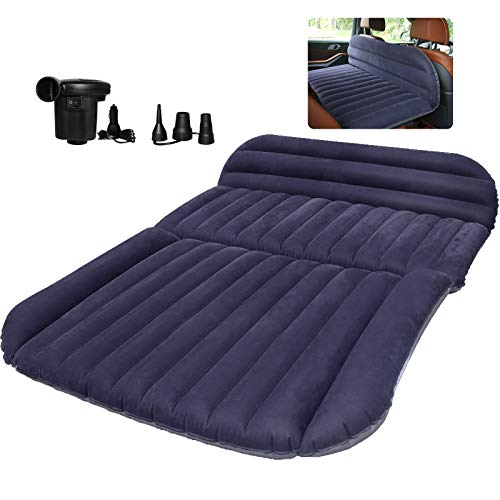 QDH SUV Air Mattress-Thickened Car Bed Back Seat Mattress-Portable Car Mattress for Vehicle Cushion Air Bed Inflatable Mattress with Air-Pump-Camping Blow Up Mattress for car (SUV air Mattress)