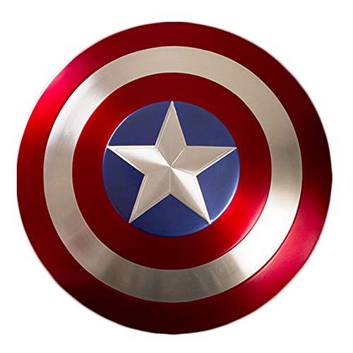 GYH Captain America's Shield Avengers Marvel SH Metal Shield Copie avancée 1: 1 , Legends Series 22.5 '' / Métal Pur (Couleur : Classic Version)