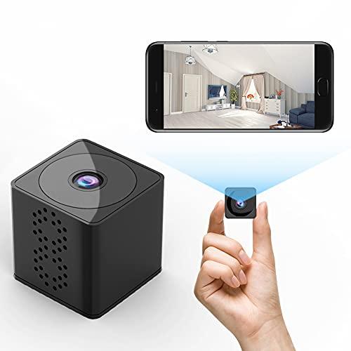 Camara Espia Oculta, 1080P HD Mini Cámara Espía WiFi para Ver en el Movil con App, IR Visión Nocturna Detector de Movimiento, Gran Angular de 150 °, para cámaras de Seguridad Interiores / Exteriores