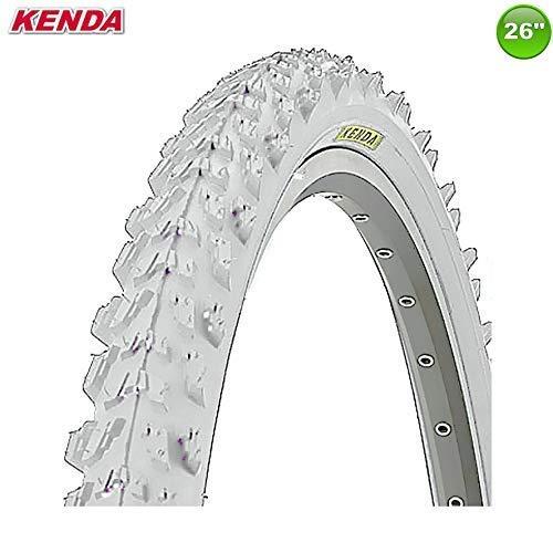 1 X Kenda MTB Neumático de la Bicicleta Cubierta - 26 X 1.95-50-559 (Blanco 1X)