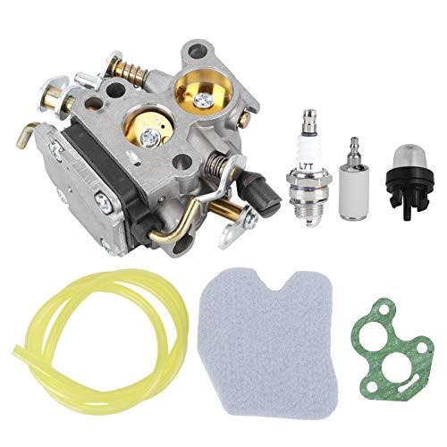 FOLOSAFENAR Carburador Primer Bulbo Motosierra Filtro de Aire Estabilidad Motosierra Carburador Materiales plásticos Carburador, para Husqvarna 235 240 235E 240E 236 236E